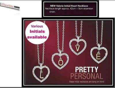 Avon Initial Love Heart Valerie Necklace~BRAND NEW in Gift Box