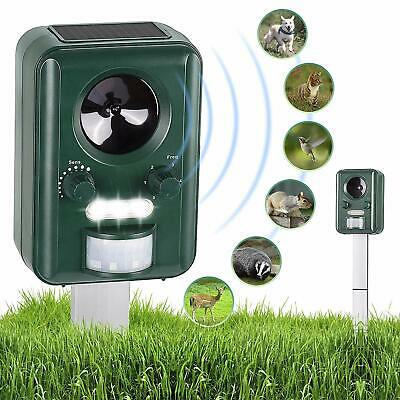 Abco Tech Solar Powered Ultrasonic Animal Repeller Electronic Outdoor Repellent