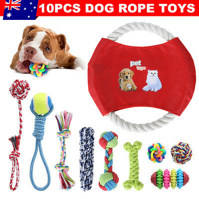10x Dog Rope Toys Nolsen Pet Chew Toy Gift Durable Cotton Puppy Teeth Clean