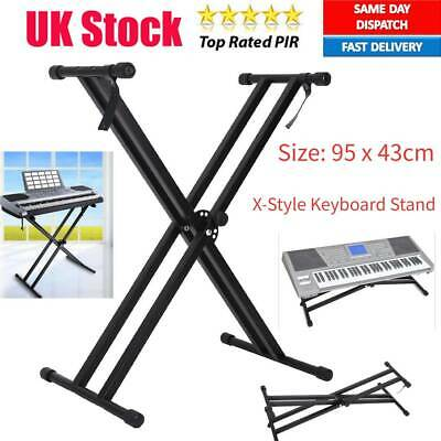 Electronic Piano X-Style Stand Music Keyboard Standard Metal Rack Adjustable UK