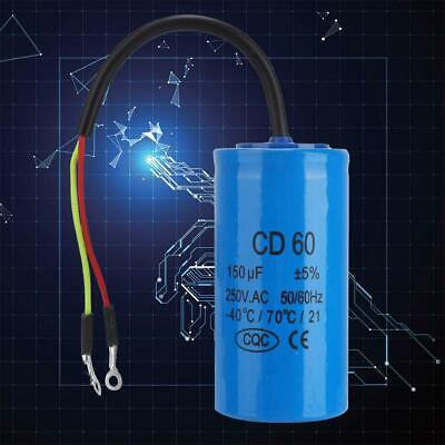 1pc CD60 Run Capacitor with Wire Lead 150uF 50/60Hz for Motor Air Compressor