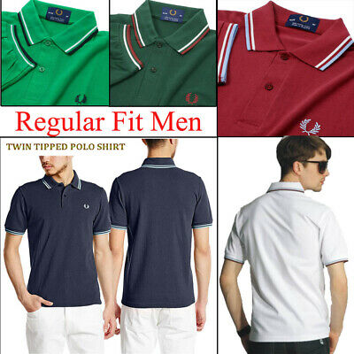Striped Twin Tipped Adult Casual Basic T Shirt Men Short Sleeves Polo Top Blouse