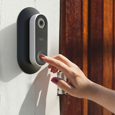 Hard ABS Wall Plate with L/R Wedge Angle Mount for Nest Hello Doorbell TH1004