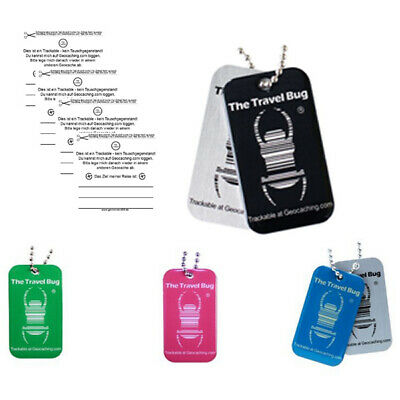 4 x Geocaching Travel Bug® QR CODE Traveltag Geocoin trackable