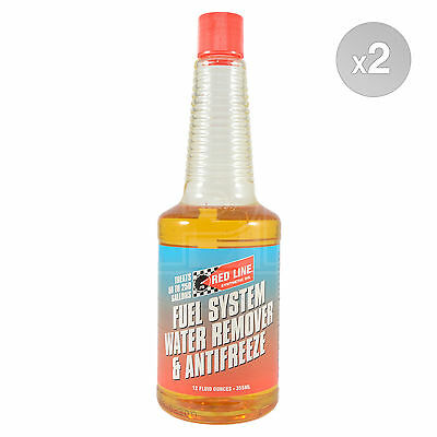 RED LINE Fuel System Water Remover & Antifreeze Redline Treatment 2 x 355ml