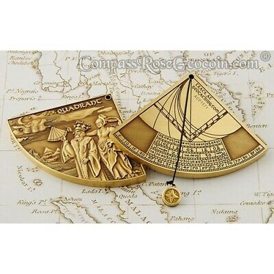 Quadrant Geocoin - bronze Geocaching Geschenk trackable navigation GPS