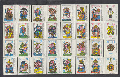 Series of 32 Old Czechoslovakian Matchbox Labels from 1966