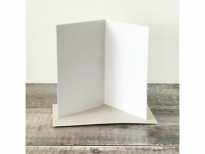 Pack of 20 White blank Greeting Cards Birthdays DIY 300gsm + C6 envelopes