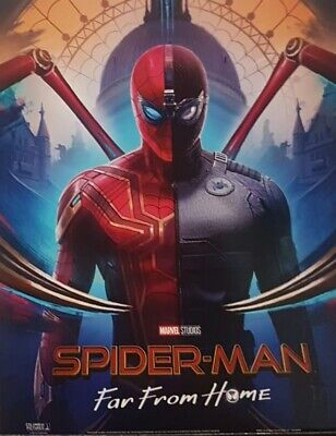 SPIDERMAN Poster Far From Home Suits - Official Odeon Movie Glossy A4ish size