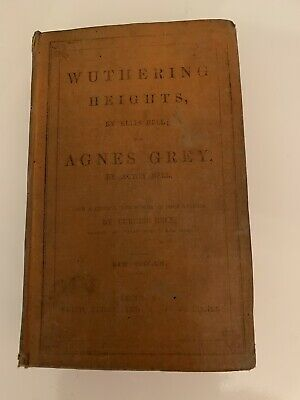 1858 Wuthering Heights and Agnes Grey book, Emily Bronte