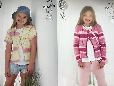 PACK OF TWO KING COLE COTTON PATTERNS FOR GIRLS 2/11 YEARS.   22 - 30ins. NoP&P.