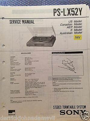 Sony PS-LX52Y Turntable Service Manual