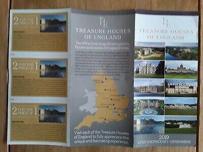 Treasure houses of England 2 for the price of 1 voucher x1(NOT LEEDS CASTLE)