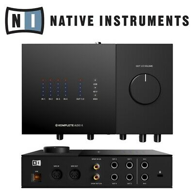 Native Instruments Komplete Audio 6 MK2 USB MIDI Audio Interface inc Software