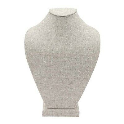 Natural Linen Necklace Bust Display