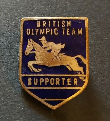 Insigne / Badge - sport équestre - British Olympic Team 1956