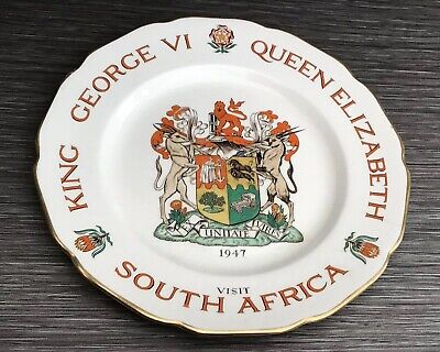 King George VI Visit To South Africa 1947 Plate By Heal's London Made By Cray