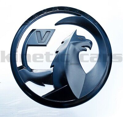 Vauxhall Griffin emblem badge,gloss black corsa astra insignia adam zafira 110mm