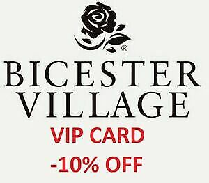 """10% OFF """"Bicester Village Outlet"""" Exclusive -10% Discount VIP Card FAST DELIVERY"""