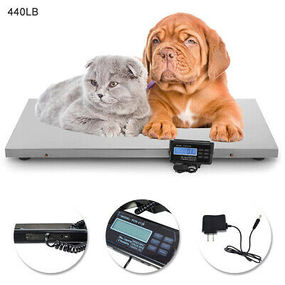 440lb Large Digital Weighing Scale Veterinary Animal Weight for Pet Dog Cat Goat