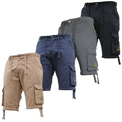 Mens Cargo Combat Shorts Chino Stretch Casual Knee Length Free Tracked 48 Del