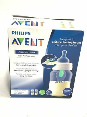 Philips Avent Anti-Colic Baby Bottle with AirFree Vent, 9 oz [2 Pack]