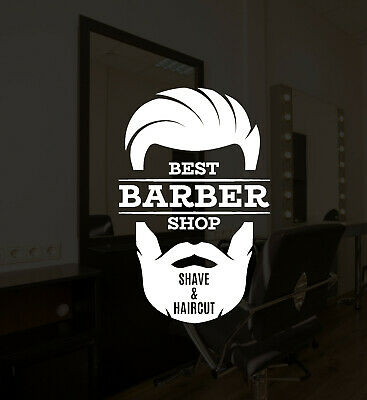 Vinyl Wall Decal Barber Shop Shave Haircut Hair Salon Logo Stickers Mural ig5279