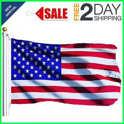 3x5 ft US American Flag Heavy Duty Nylon Embroidered Stars Sewn Stripes Grommets