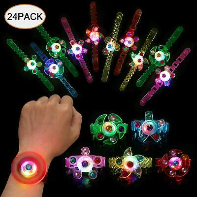 Light Up Bracelet Glow in The Dark Party Favors for Kids 24pk Wristband LED Neon