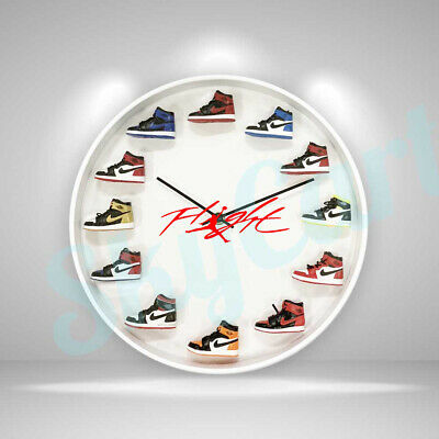 "New Handcrafted 12"" 3D Jordan Sneakers clock OFF white nike supreme kicks yeezy"