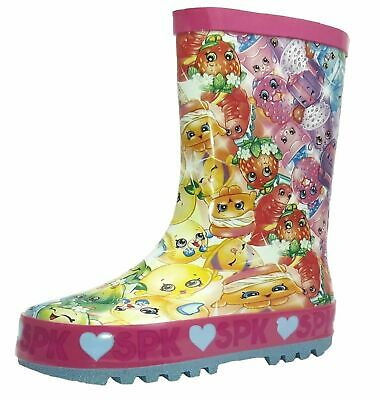 Shopkins Girls Wellies - All Over Multi Colour Print