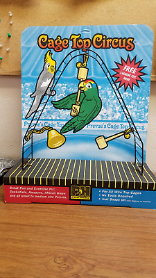 Prevue Hendryx Cage Top Circus W/ 3 Hanging Toys New