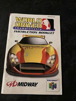 World Driver Championship manual Nintendo 64 N64 booklet only