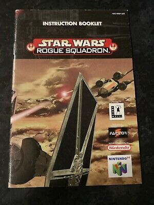 Star Wars Rogue Squadron manual Nintendo 64 N64 booklet only