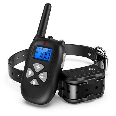 P12 1 to 2 Bark-stop Collars 450m Remote Control Electric Shock Dog Trainer #gib