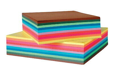 Folia Origami Paper, 8 x 8 Inches, Assorted Colors, 500 Sheets