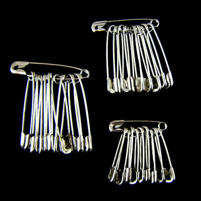 Lots Stainless Steel Safety Pins Clothing Brooch Sewing Badge Jewelry Findings