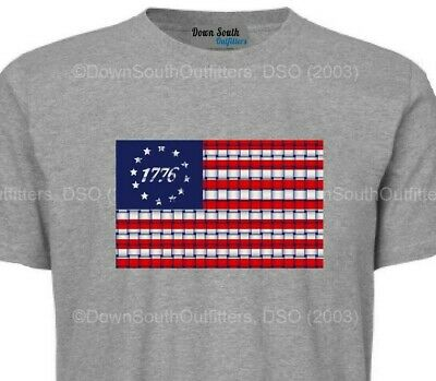 Betsy Ross Flag T-Shirt America USA Tee 16 Shirt Colors SM - 6X Tshirt DSO