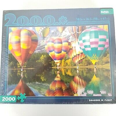 Buffalo Games Balloons In Flight 2000 Piece Jigsaw Puzzle Hot Air Balloon New