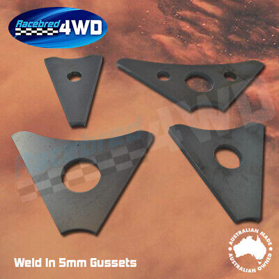 Laser Cut Weld In 5mm Thick 100mm  Length Gusset Style 1