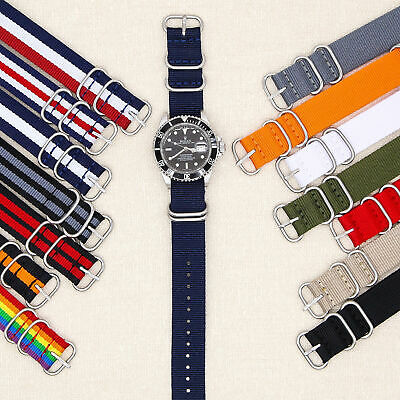 20mm Military Watch Strap Nylon 18mm 20mm 22mm Diver Raf Bonded Suisse