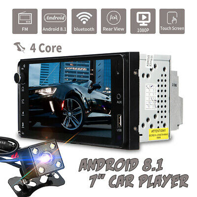 """7"""" Android 8.1 2Din Quad Core GPS Navi WiFi Car Stereo MP5 Player Radio AUX Cam"""