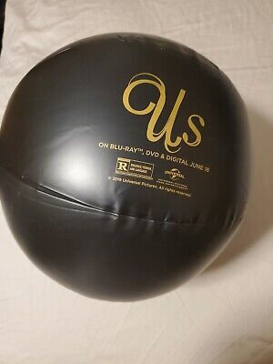 Us - 2019 Movie Film - Jordan Peele - Black Promo Beach Ball - Rare Item Buy Now
