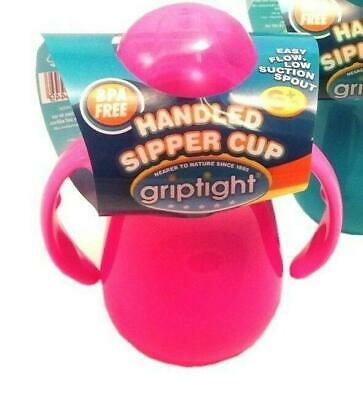 JOBLOT - 12 x Griptight - Handled Easy Flow Sipper Training Cup - Non Spill