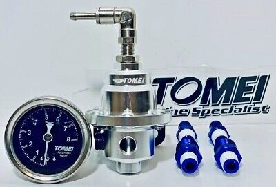 Tomei Adjustable Fuel Pressure Regulator With Gauge Type-S 185001 6AN Fittings
