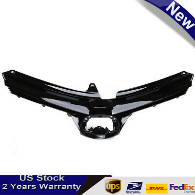 Durable Bumper Grille Glossy Upper Hood Front Fit For 2017-2019 Corolla LE XLE
