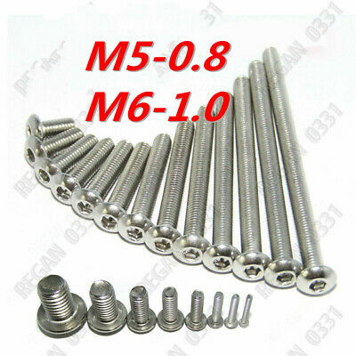 M2 M2.5 M3 M4 M5 M6 Stainless Steel Hex Socket Button Head Screws Bolt ISO7380