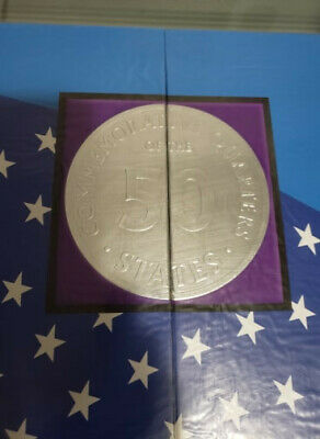 50 State Commemorative Quarters Collectors Map Album For Coin Collection Display
