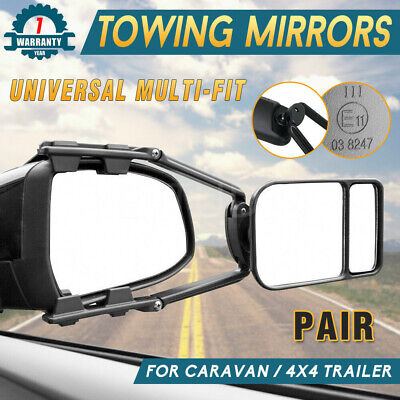 2x Multi Fit Towing Mirror Universal Pair Adjustable For Car Caravan 4X4 Trailer
