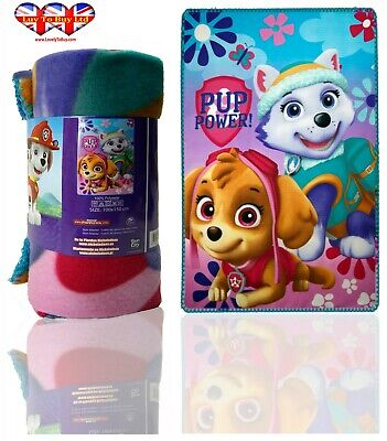 Paw Patrol Skye Blanket  Soft Touch Fluffy Coral Fleece ,Official Licenced